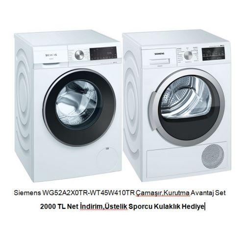 Siemens WG52A2X0TR-WT45W410TR Çamaşır,Kurutma Avantaj Set