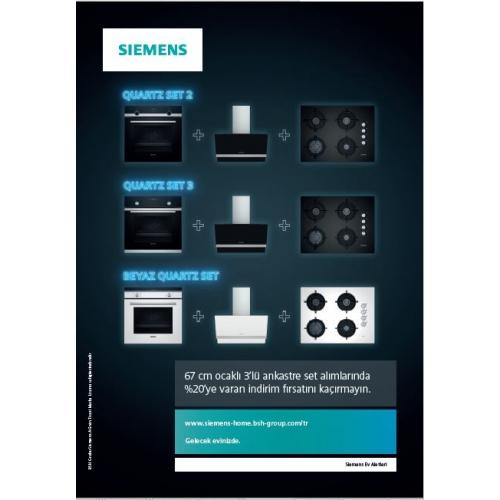 Siemens SİYAH QUARTZ ANKASTRE SET